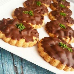 cikolatali findikli kurabiye