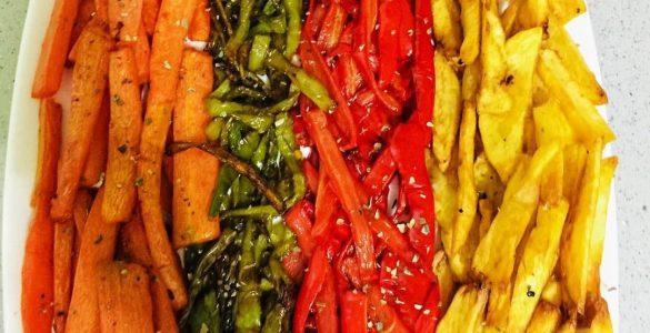Yağ Çekmeyen Karışık Sebze Kızartması