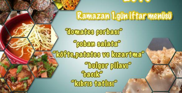 ramazan 1.gün iftar menüsü