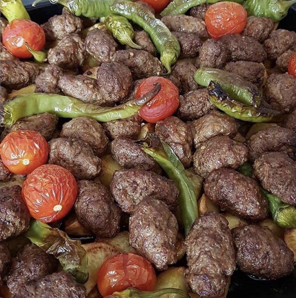 Fırında köfte patates 1