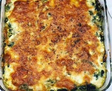 Lor peynirli pazı graten