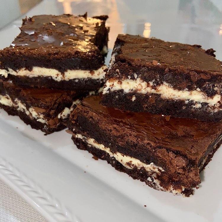 beyaz cikolatali brownie