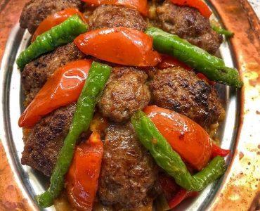 köfteli söğürme kebabı