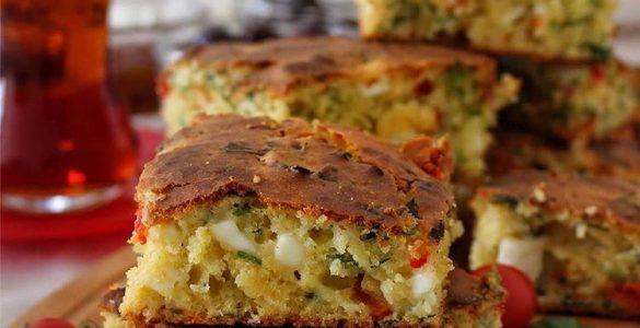 sebzeli mısır ekmeği