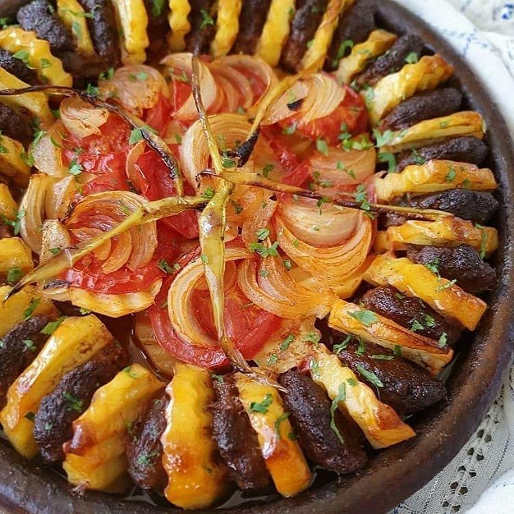 Fırında Köfte Patates Dizmesi