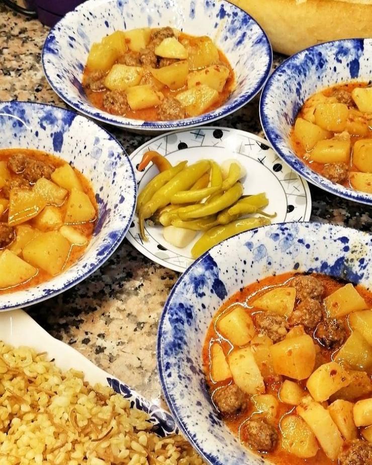 Köfteli Sulu Patates
