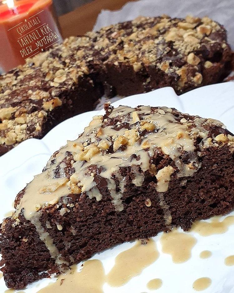 Bol Çikolatalı Tahinli Kek