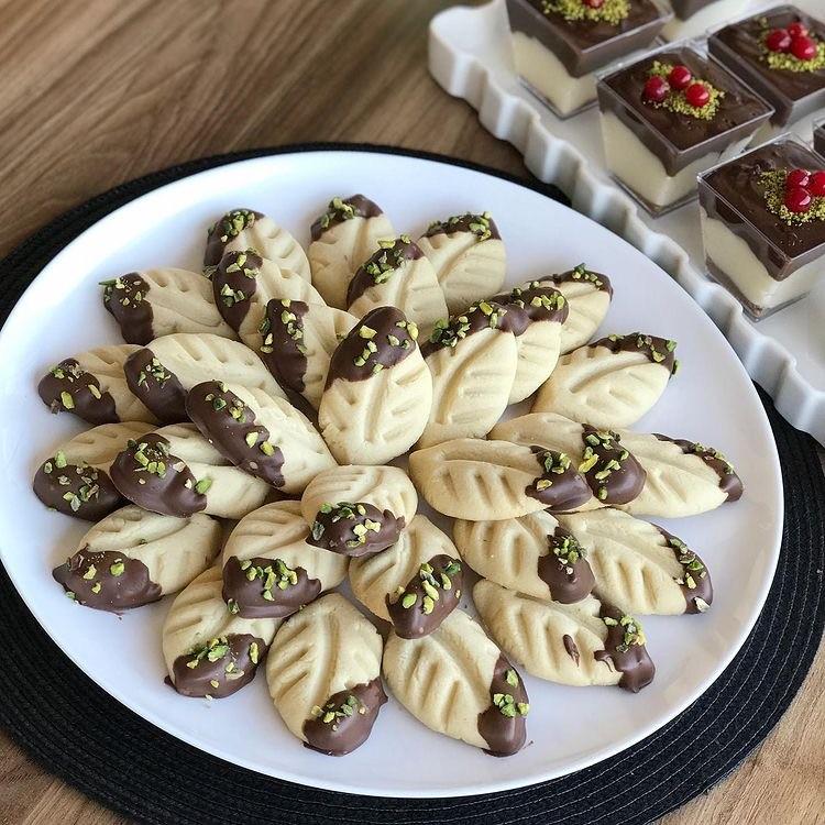 Çikolatalı Yaprak Kurabiye
