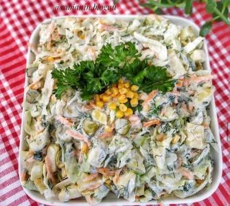 göbek marullu patates salatası