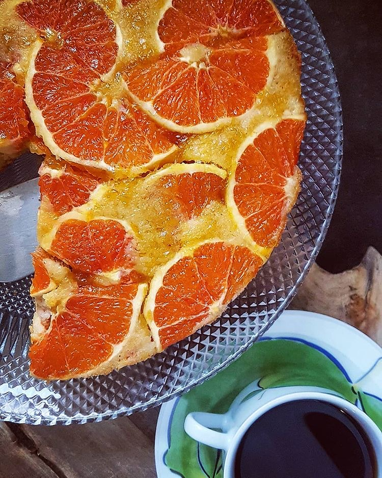 Kan Portakallı Ters Yüz Kek