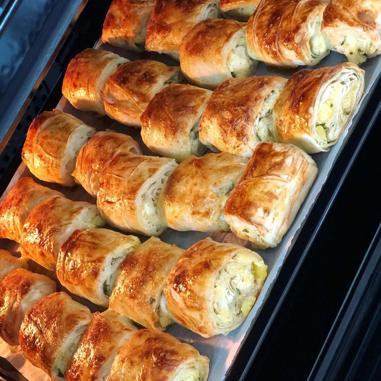 Patatesli Peynirli Rulo Dilim Börek